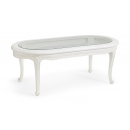 Antique White French Oval Coffee Table