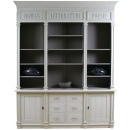 Louis French Bookcase - Finished in Off White Spray