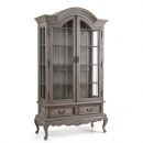 Louis French Display Cabinet with Glass Shelves
