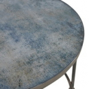 Blue Pattern Glass Top Glass Coffee Table Top