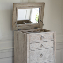 Camille French Lingerie Chest Open Top With Mirror