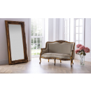 Carved Louis Leaner Mirror Gold Leaf with our Gold Leaf Sofa