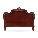 Carved Louis XV Headboard - Mid Mahogany