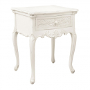Antique White Provencale Lamp Table with Drawer