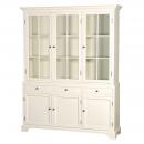 Chantilly Cream French Glazed Display Cabinet