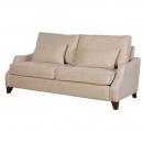 Contemporary Cream Linen 3 Seater Sofa