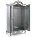 Cristal French Silver Leaf 2 Door Wardrobe Interior