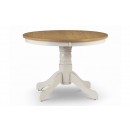 Davenport French Painted Round Pedestal Dining Table