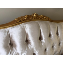 Beaulieu Gold Leaf French Bed - Fabric