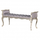 Fleur Silver French Bed End Stool