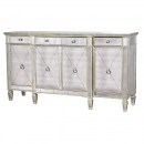 Aged Large Mirrored Sideboard