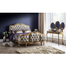 Antique Gold Leaf Versailles French Curved Bed