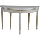 Louis Folding Round Dining Table - Closed View