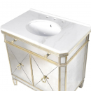 French Aged Vanity Cabinet basin