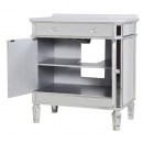 French Silver Mirrored Vanity Cabinet - Open