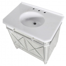 French Silver Mirrored Vanity Cabinet - Basin