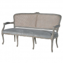 French Weathered Oak Carved Sofa