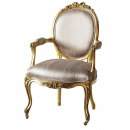 French Style Gold Leaf Nursing Armchair