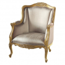 Antique Gold French Library Armchair