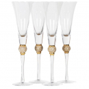 Gold crystal champagne flutes