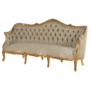 Antique Gold Versailles French 3 Seat Sofa