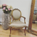 Gold Leaf French Style Nursing Armchair