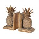 Golden Pineapple Bookends