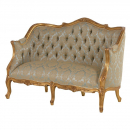 Green/Gold French 2 Seater Settee