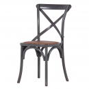 Traditional Grey Cross Back Dining Chair