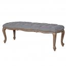 Upholstered Grey Bench