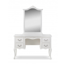 Ivory French Inspired Dressing Table With Mirror