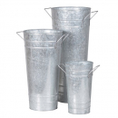 Set of 3 Large French Florist Buckets