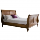 Lille French Sleigh Bed with High Footboard