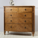 Lille Classic Sleigh 5 Drawer Tall Chest
