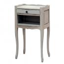 Loire Light Grey French Open Bedside Table