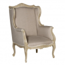 Loire Light Grey French Wing Chair