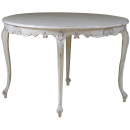 Louis Antique White Round Dining Table
