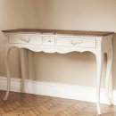 Louis French Console / Hall table with Dark Oak Top