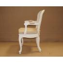 Chalk / Vintage Cream Linen - Louis Rattan Armchair Side