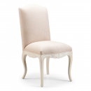 Louis French Carved Dining Chair / finished in Smoke frame & Sand fabric