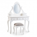 Louis French Dressing Table with Mirror / Stool (Moss Fabric)