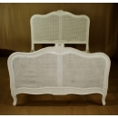 Louis French Rattan Bed - Example to the Chalk finish