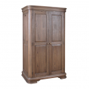French Louis Philippe sleigh style double wardrobe