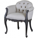 Louis Upholstered Low Back Bedroom Chair