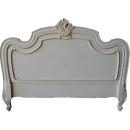 Louis XV Headboard Antique White