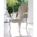 Lyon French Carver - Finished in Chalk & MDL01 fabric