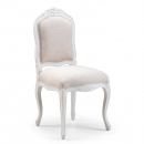 Lyon French Dining Chair, Finished in Chalk & Vintage Cream Linen fabric