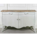 Lyon French Sideboard - Finished in Chalk & with Old Wood Top