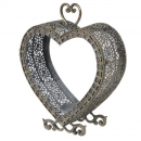 Metal Heart Candleholder