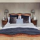 Mid-Mahogany Louis XV Style Bed